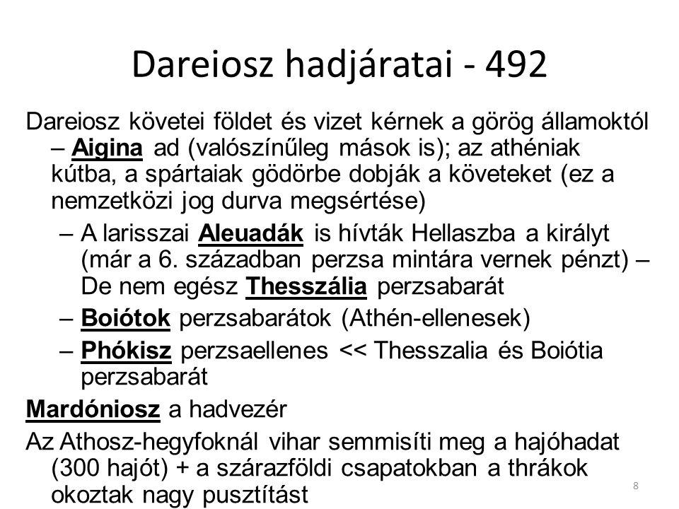 Dareiosz hadjáratai - 492
