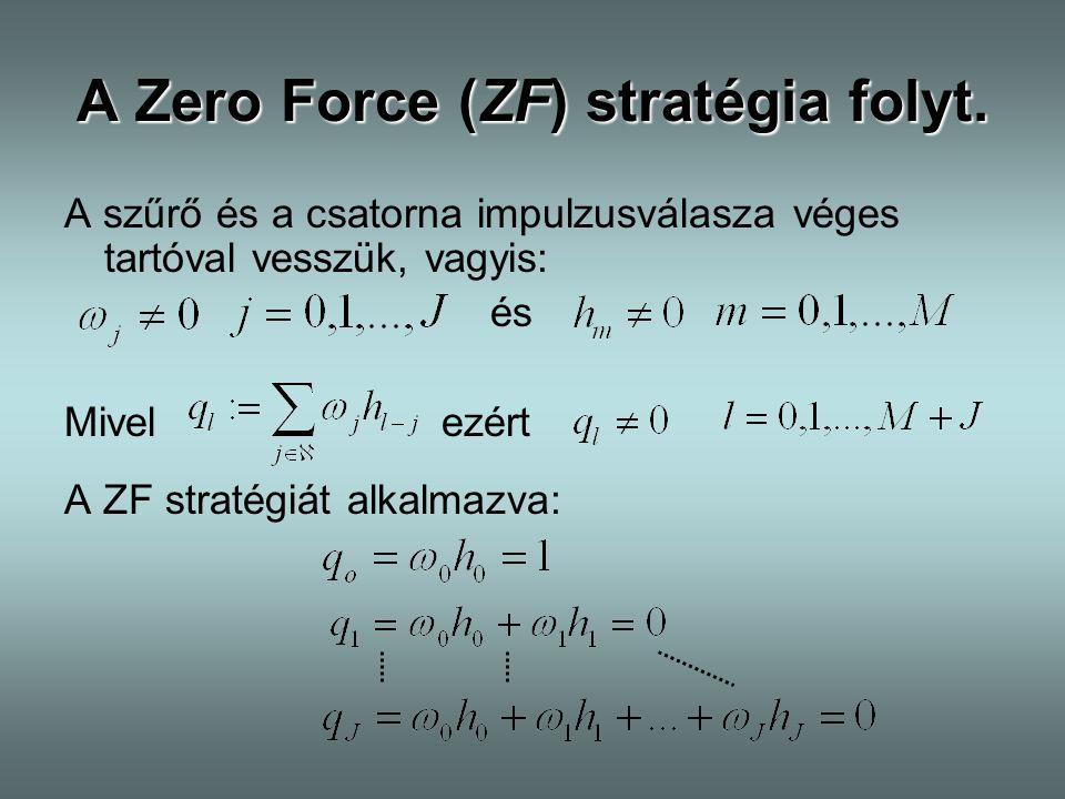 A Zero Force (ZF) stratégia folyt.