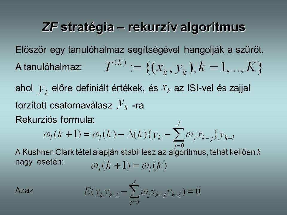 ZF stratégia – rekurzív algoritmus