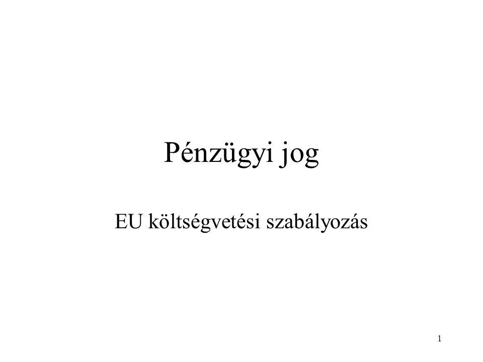 EU költségvetési szabályozás