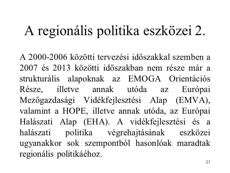 A regionális politika eszközei 2.
