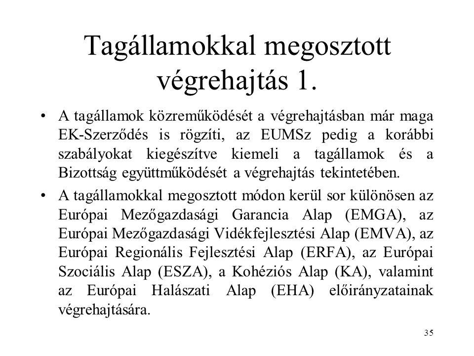Tagállamokkal megosztott végrehajtás 1.