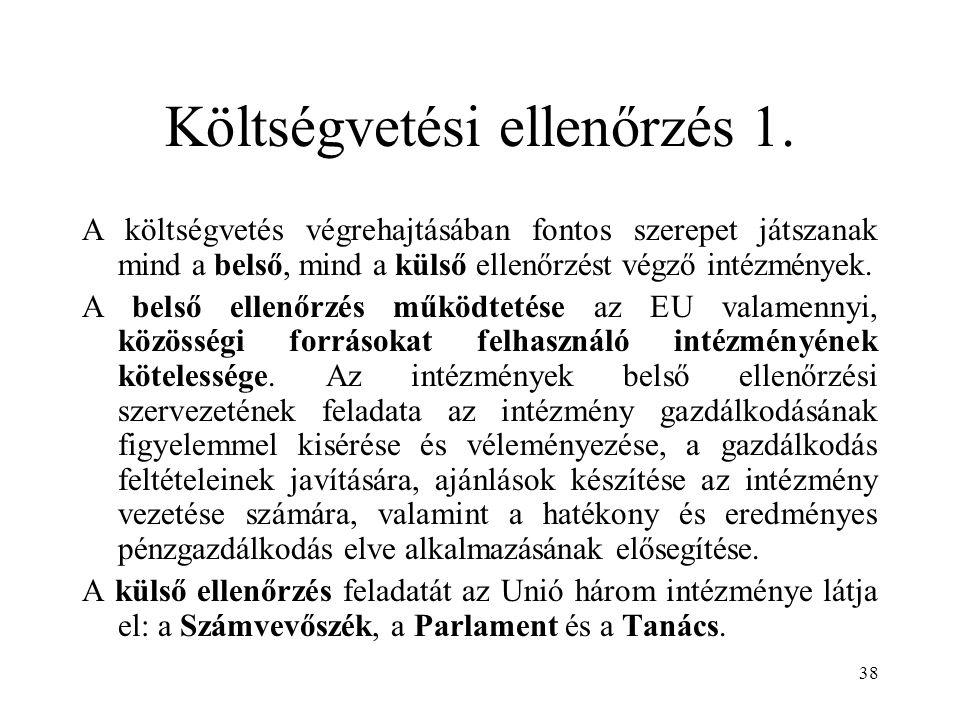 Költségvetési ellenőrzés 1.