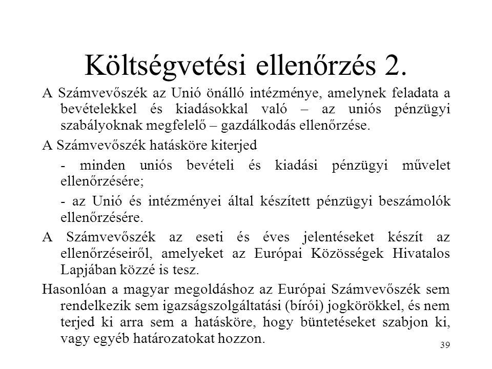 Költségvetési ellenőrzés 2.