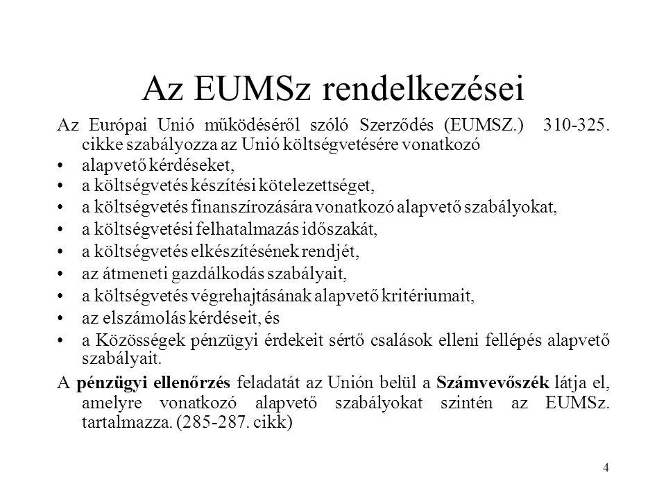 Az EUMSz rendelkezései