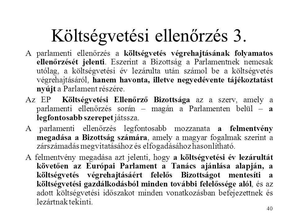 Költségvetési ellenőrzés 3.