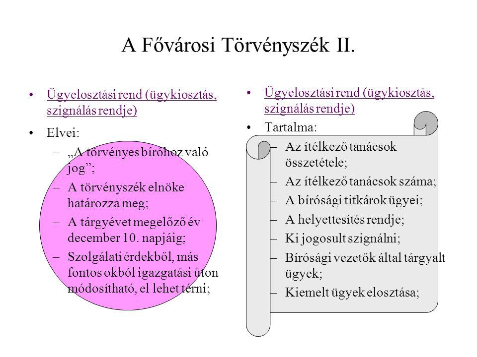 A Fővárosi Törvényszék II.
