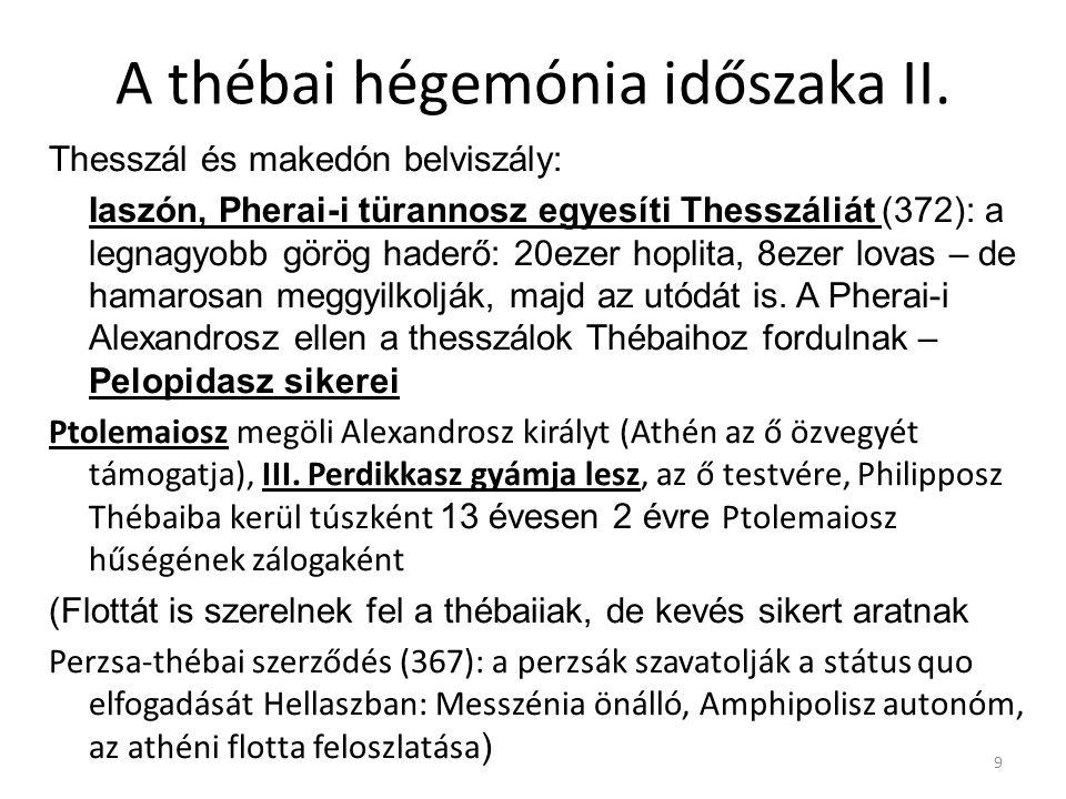 A thébai hégemónia időszaka II.