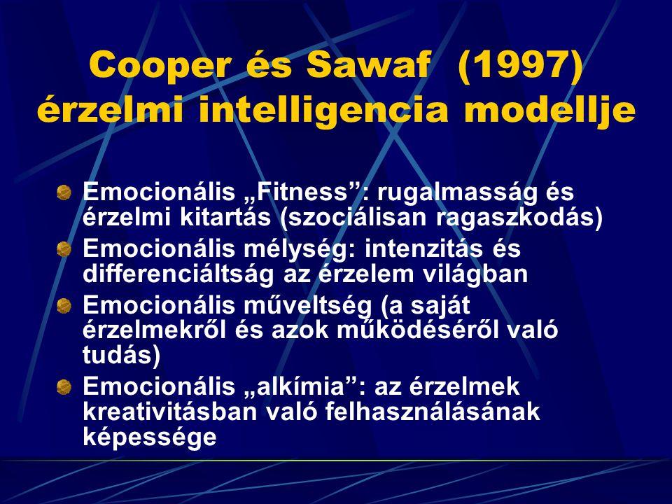 Cooper és Sawaf (1997) érzelmi intelligencia modellje
