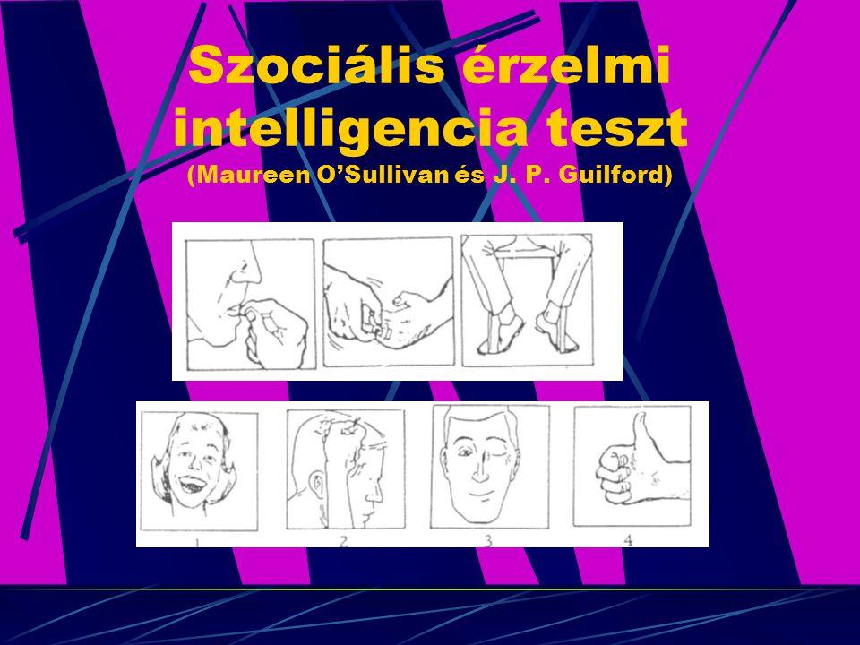 Szociális érzelmi intelligencia teszt (Maureen O'Sullivan és J. P