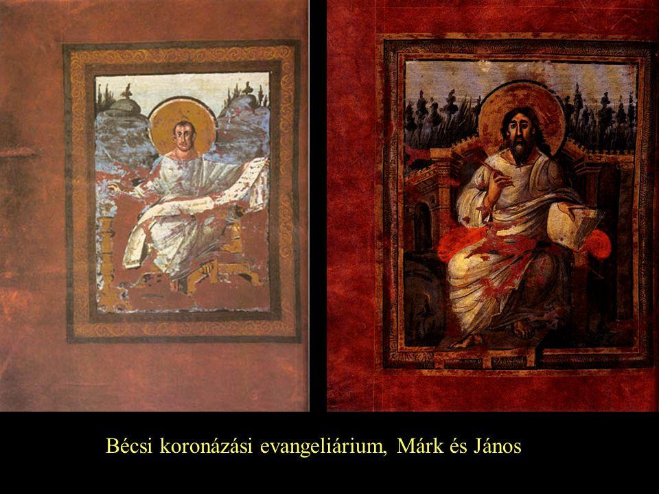 Bécsi koronázási evangeliárium, Márk és János