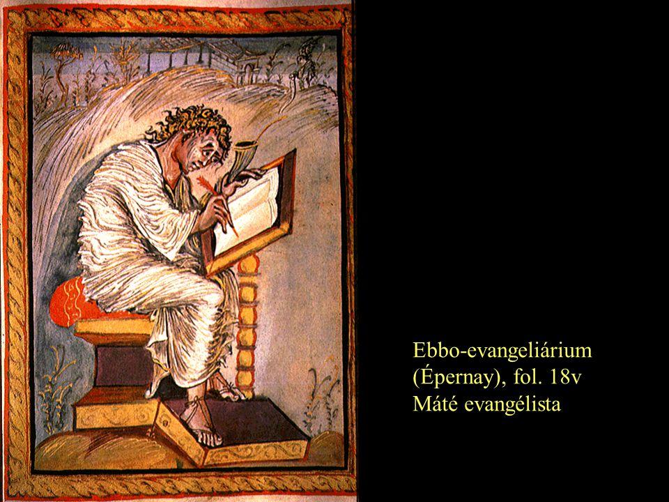 Ebbo-evangeliárium (Épernay), fol. 18v Máté evangélista