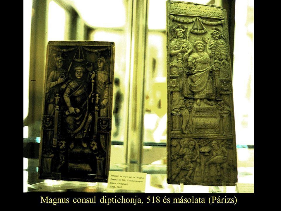 Magnus consul diptichonja, 518 és másolata (Párizs)