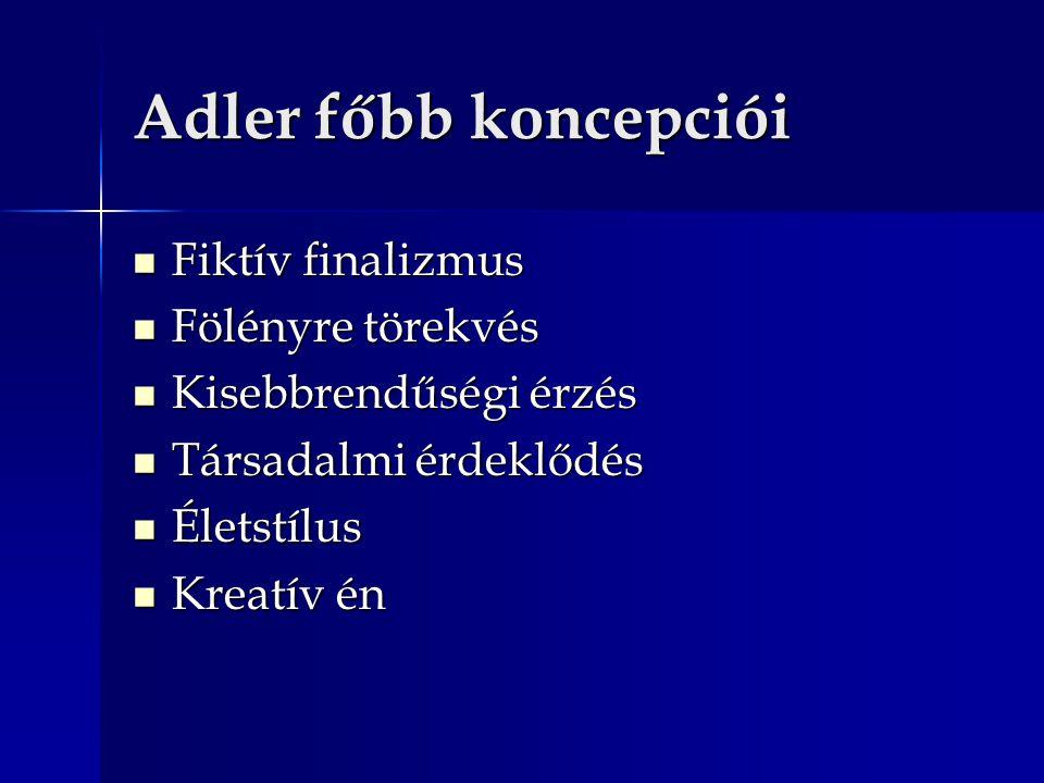Adler főbb koncepciói Fiktív finalizmus Fölényre törekvés