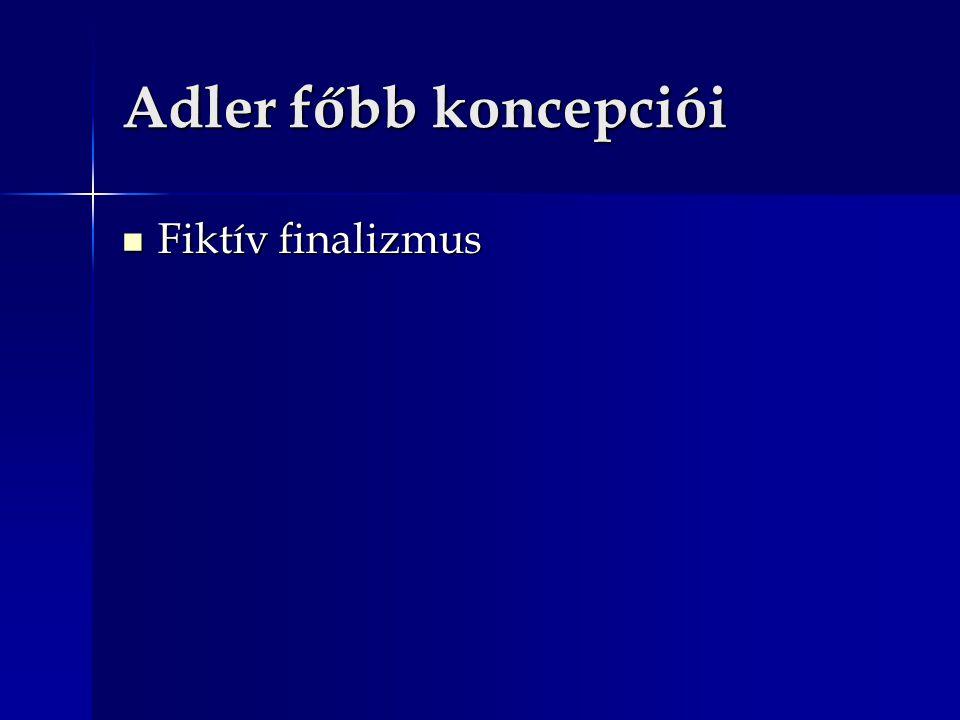 Adler főbb koncepciói Fiktív finalizmus