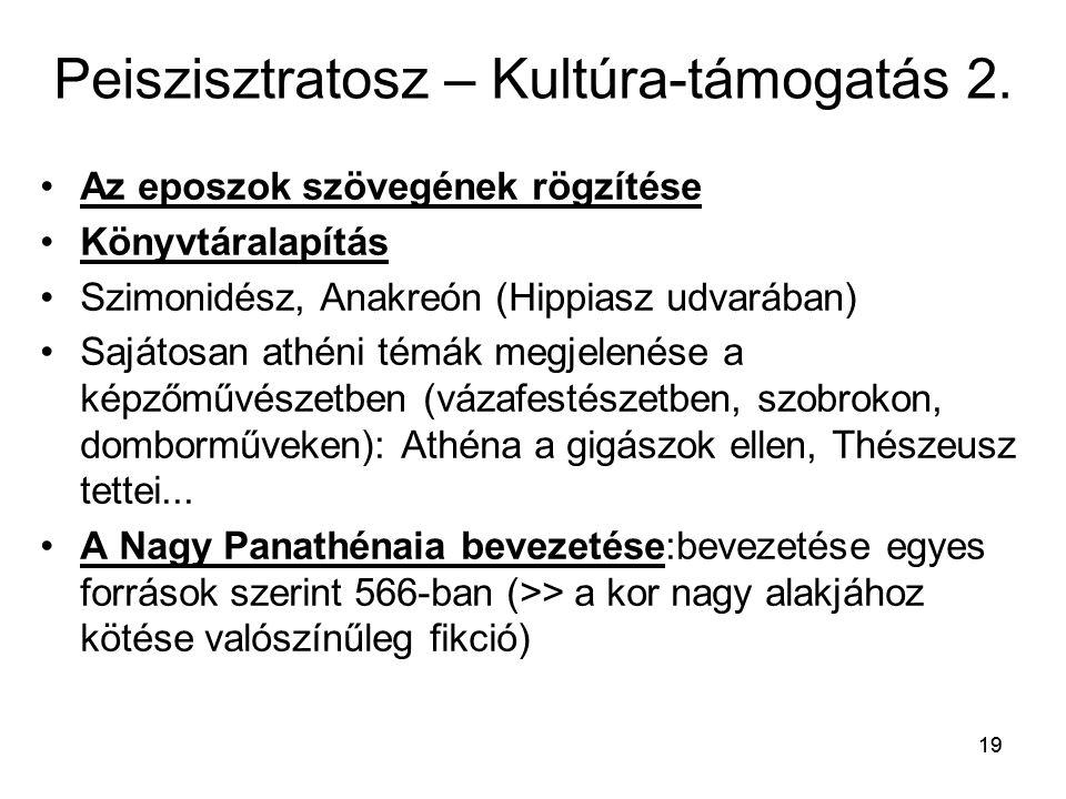 Peiszisztratosz – Kultúra-támogatás 2.