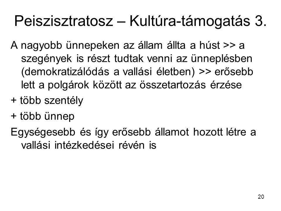 Peiszisztratosz – Kultúra-támogatás 3.