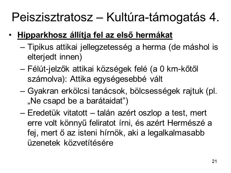 Peiszisztratosz – Kultúra-támogatás 4.