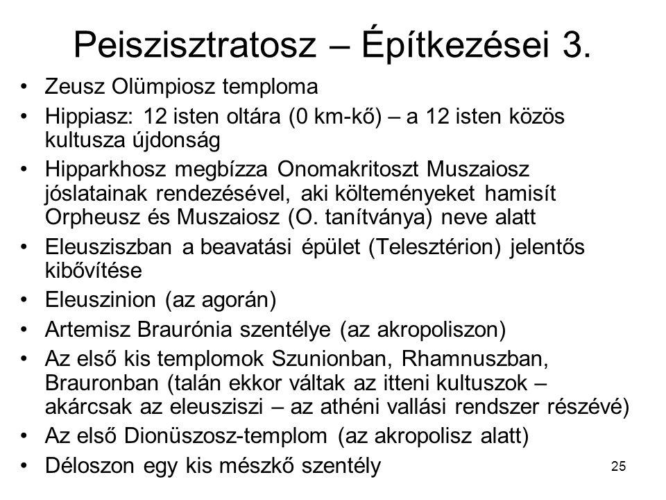 Peiszisztratosz – Építkezései 3.