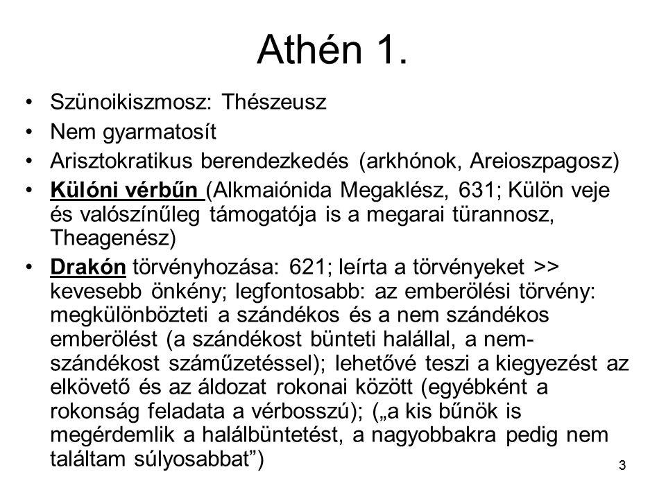 Athén 1. Szünoikiszmosz: Thészeusz Nem gyarmatosít