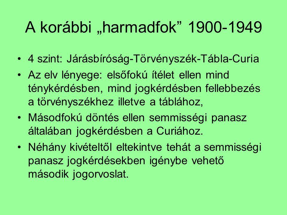 """A korábbi """"harmadfok 1900-1949"""