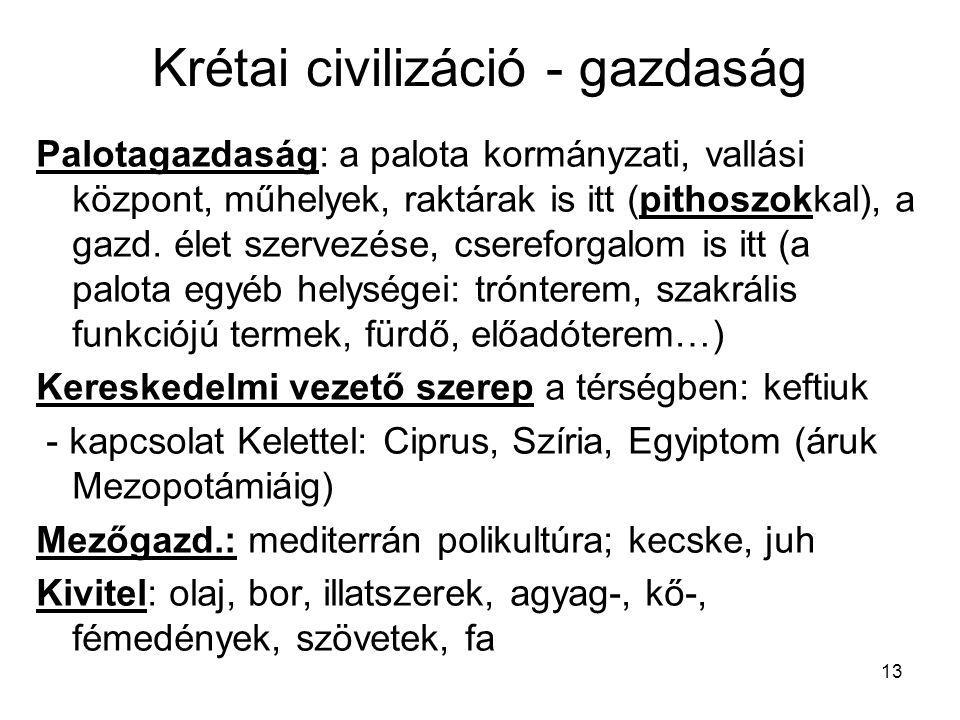 Krétai civilizáció - gazdaság