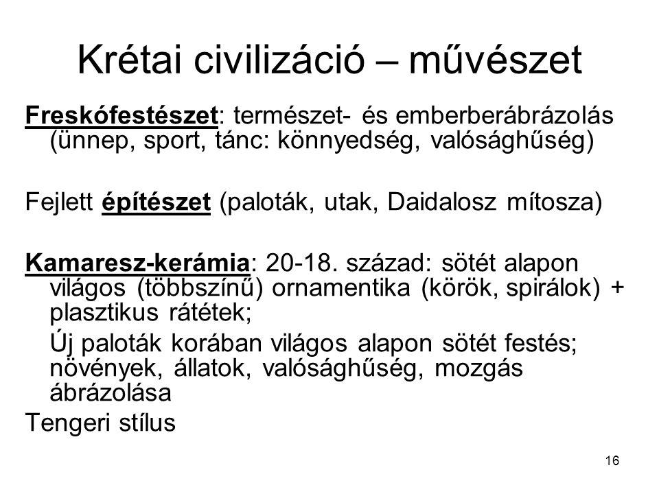 Krétai civilizáció – művészet