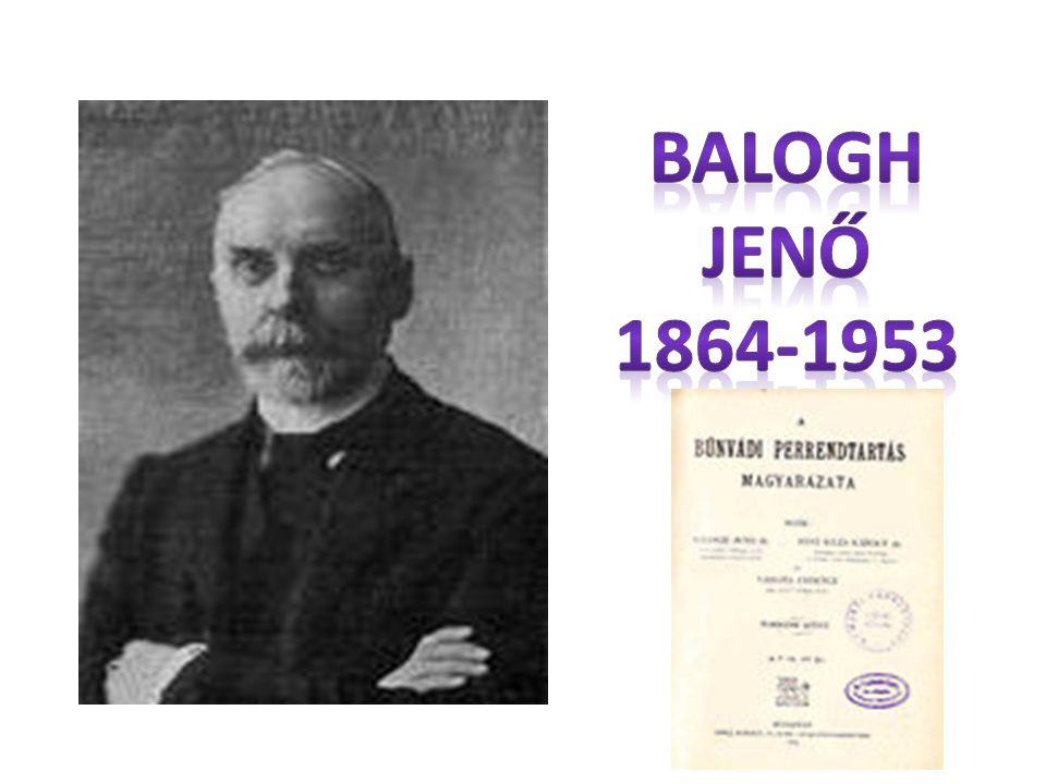 Balogh Jenő 1864-1953