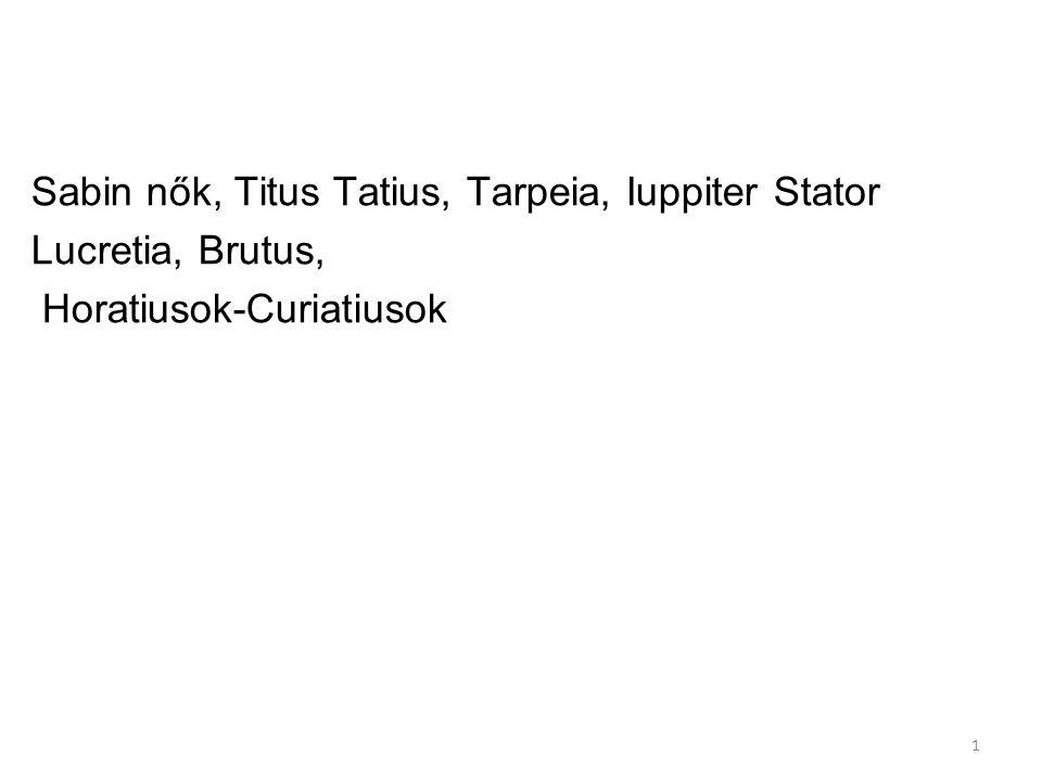Sabin nők, Titus Tatius, Tarpeia, Iuppiter Stator