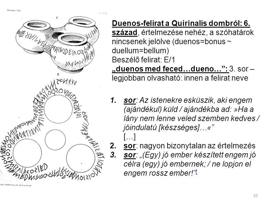 Duenos-felirat a Quirinalis dombról: 6