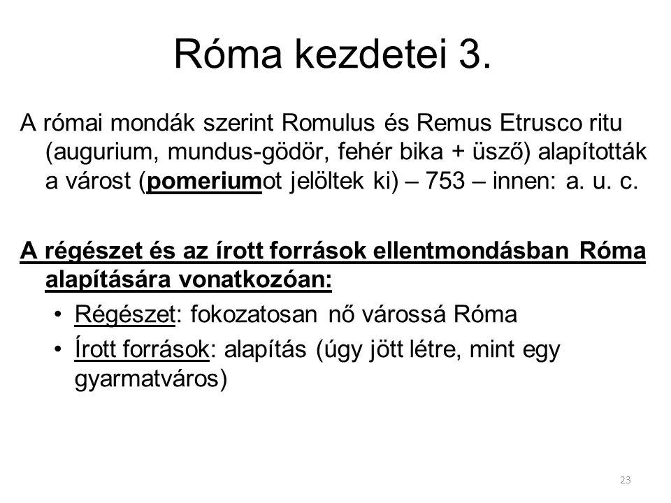 Róma kezdetei 3.