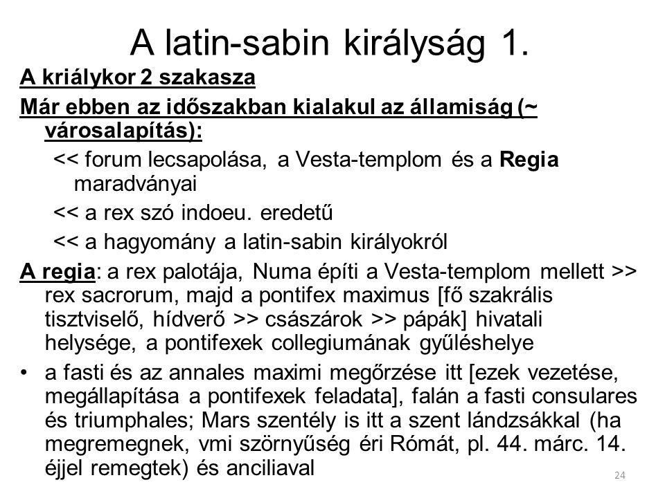 A latin-sabin királyság 1.