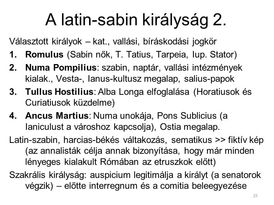 A latin-sabin királyság 2.