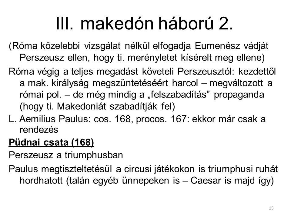 III. makedón háború 2.
