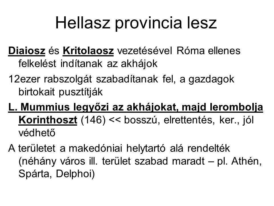 Hellasz provincia lesz