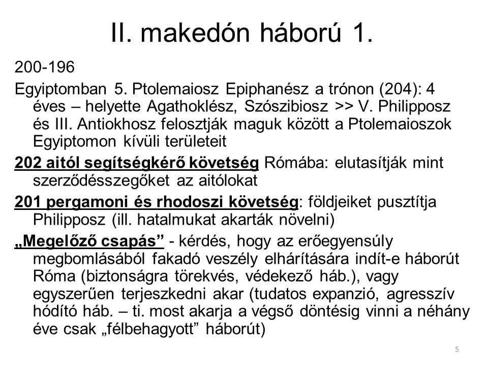 II. makedón háború 1. 200-196.
