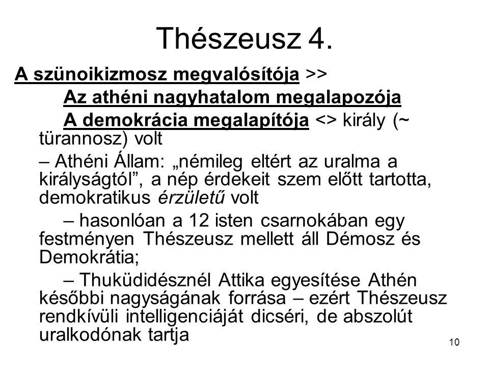 Thészeusz 4. A szünoikizmosz megvalósítója >>