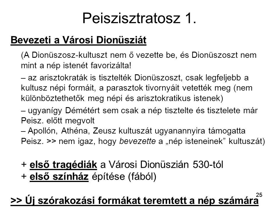 Peiszisztratosz 1. Bevezeti a Városi Dionüsziát