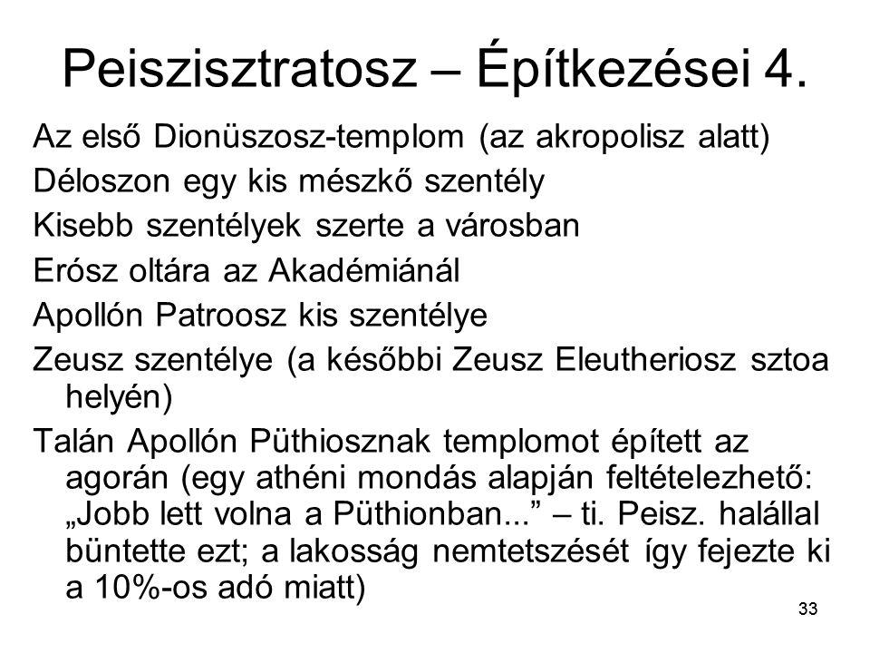 Peiszisztratosz – Építkezései 4.