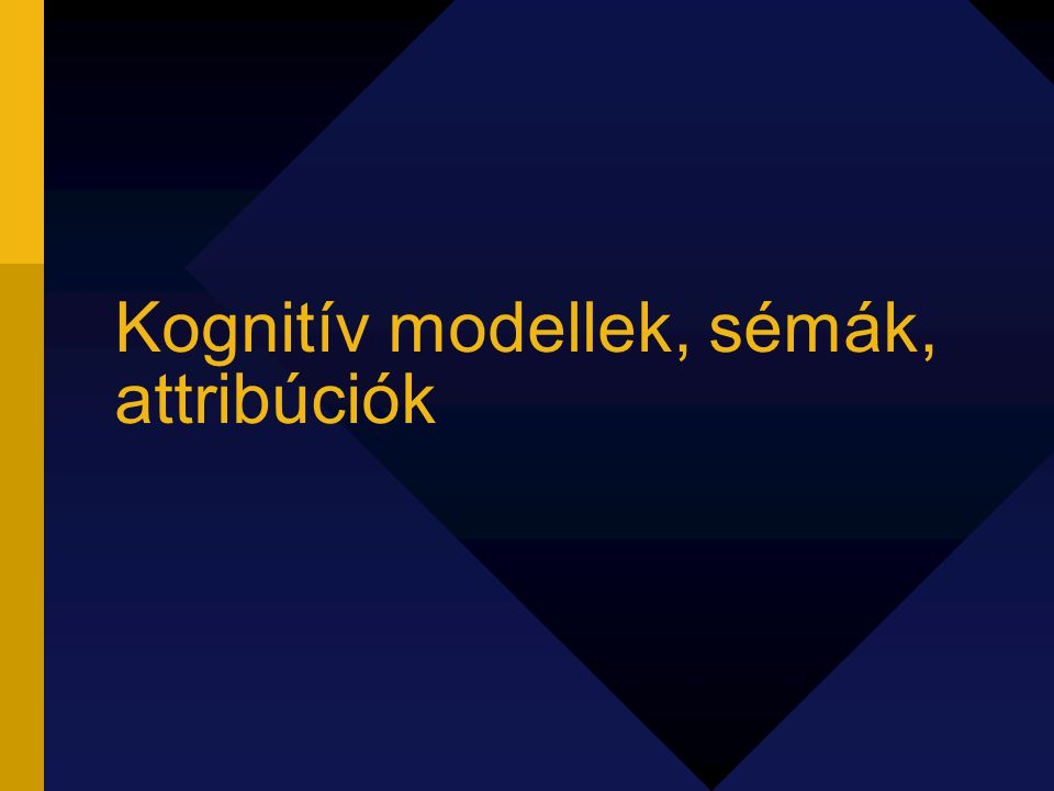 Kognitív modellek, sémák, attribúciók