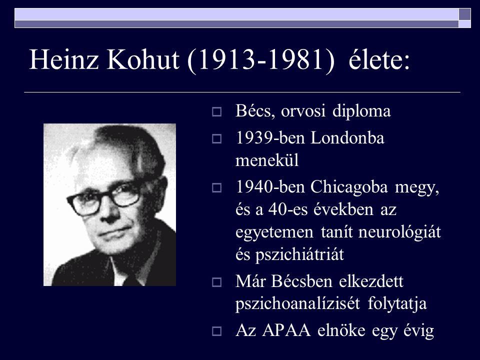 Heinz Kohut (1913-1981) élete: Bécs, orvosi diploma