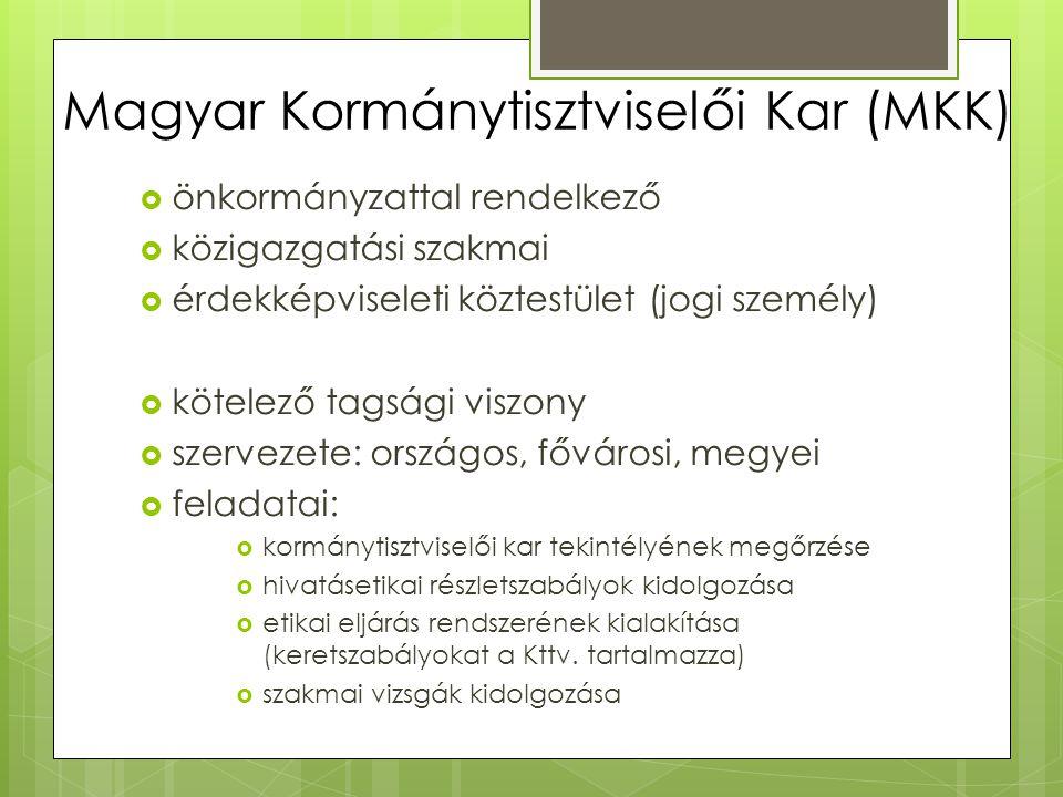 Magyar Kormánytisztviselői Kar (MKK)