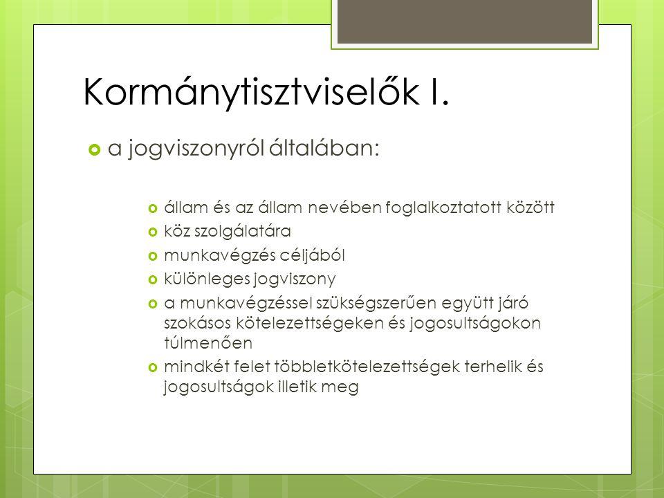 Kormánytisztviselők I.