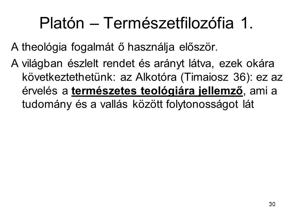 Platón – Természetfilozófia 1.