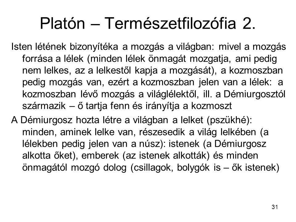 Platón – Természetfilozófia 2.