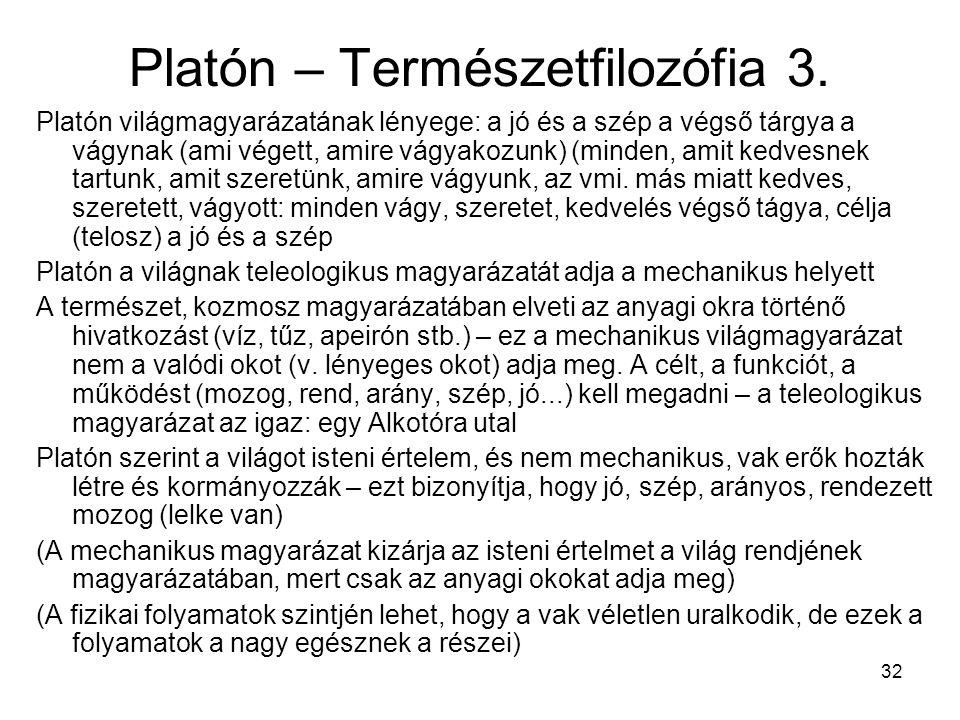 Platón – Természetfilozófia 3.