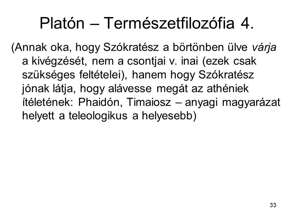 Platón – Természetfilozófia 4.