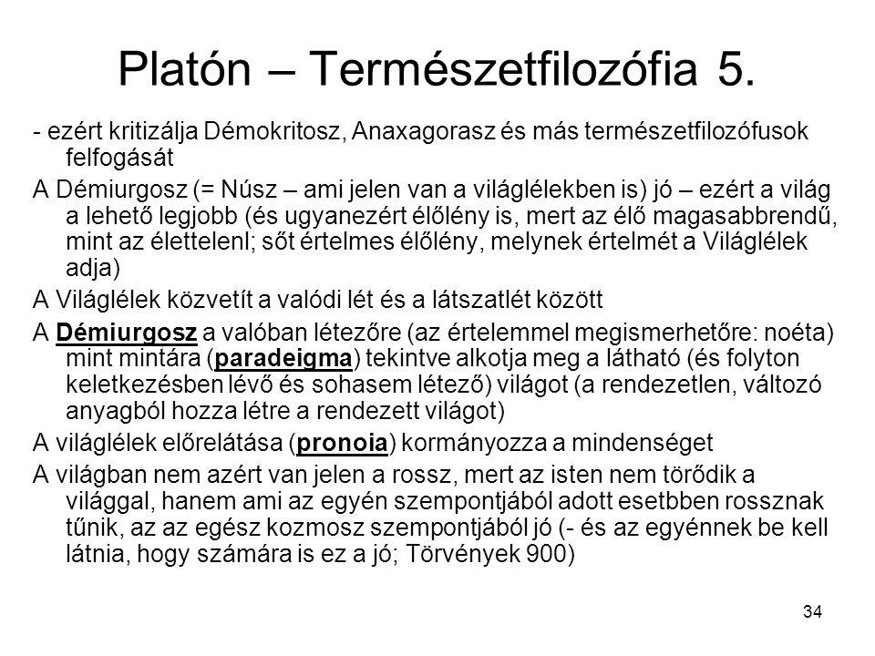Platón – Természetfilozófia 5.