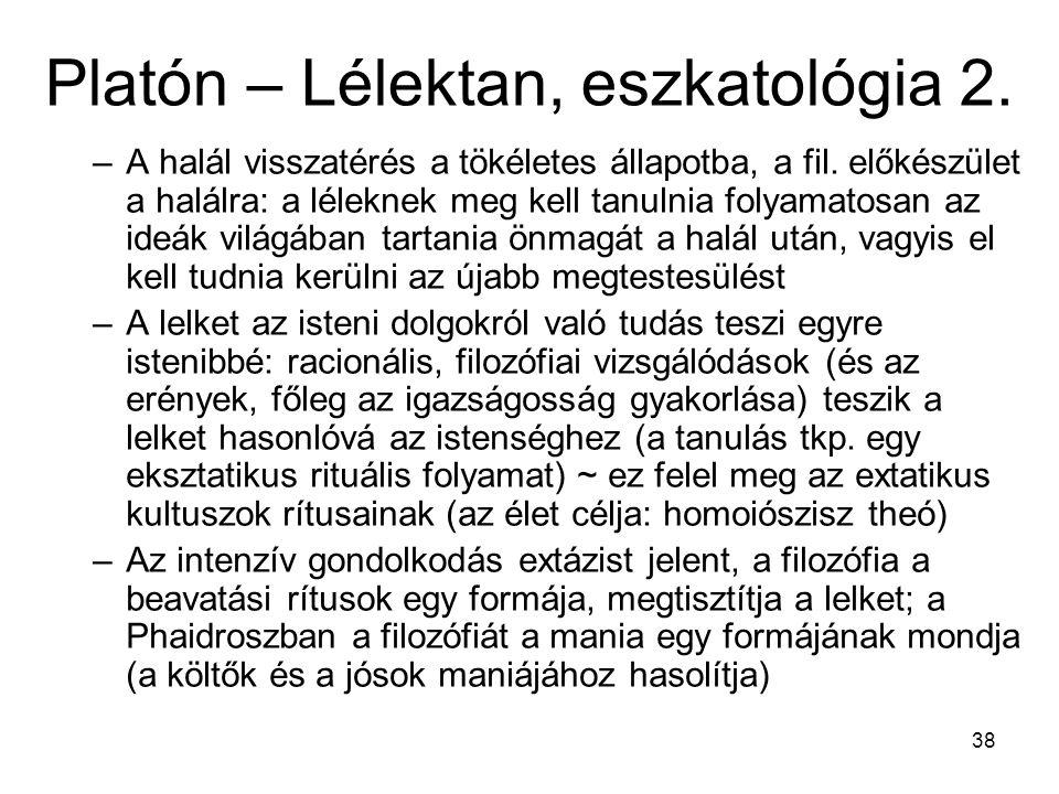 Platón – Lélektan, eszkatológia 2.