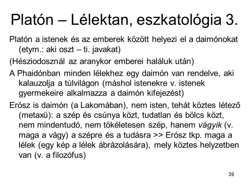 Platón – Lélektan, eszkatológia 3.